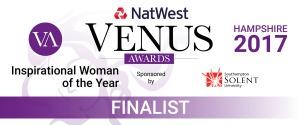Susan Hayward - finalist, Venus Inspirational Woman 2017