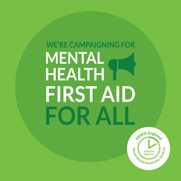 We're campaigning for Mental Health First Aid forall