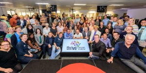 Speakers and attendees at Thrive 2020 in 2015
