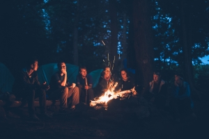 Hygge around a campfire